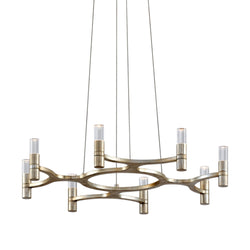 Corbett Lighting 258-08 Nexus 8lt Chandelier in Hand-Crafted Iron