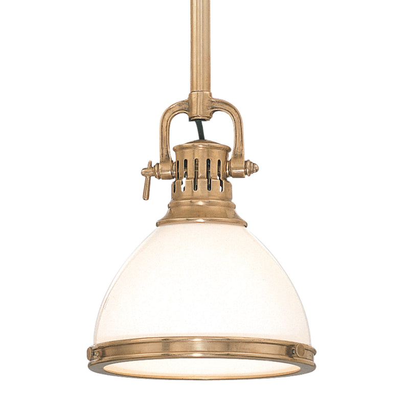 Hudson Valley Lighting 2623-AGB Randolph 1 Light Pendant in Aged Brass