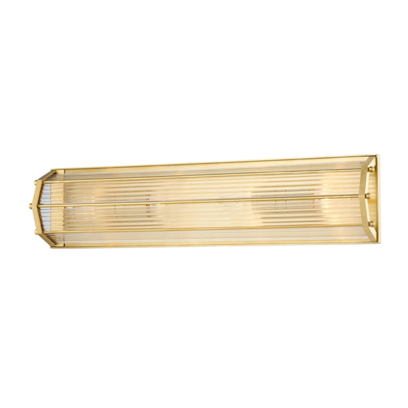 Hudson Valley Lighting 2624-AGB Wembley 4 Light Wall Sconce in Aged Brass