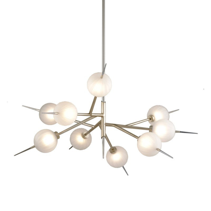 Corbett Lighting 263-09 Tempest 9lt Chandelier in Hand-Crafted Iron