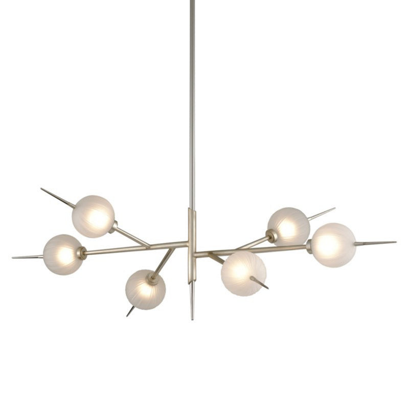 Corbett Lighting 263-56 Tempest 6lt Linear in Hand-Crafted Iron
