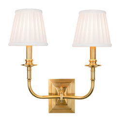 Hudson Valley Lighting 2702-AGB Lombard 2 Light Wall Sconce in Aged Brass
