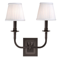 Hudson Valley Lighting 2702-OB Lombard 2 Light Wall Sconce in Old Bronze