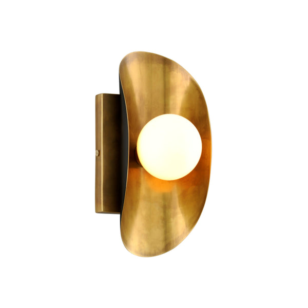 Corbett Lighting 271-11 Hopper 1lt Wall Sconce in Solid Brass