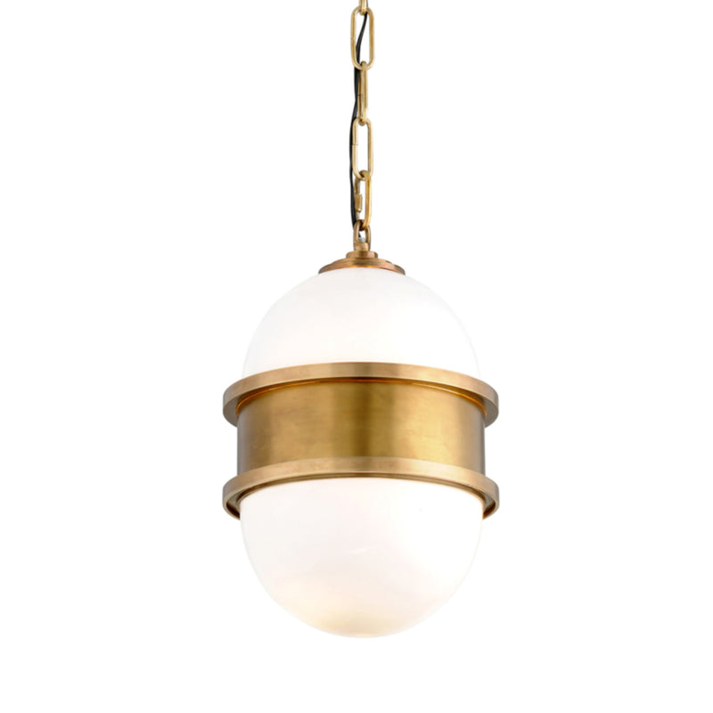 Corbett Lighting 272-41 Broomley 1lt Pendant in Solid Brass