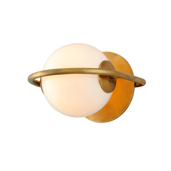 Corbett Lighting 273-11 Everley 1lt Wall Sconce in Solid Brass