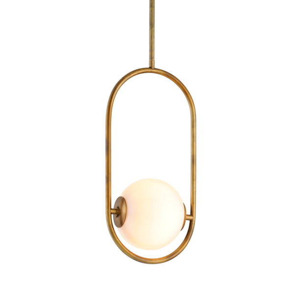 Corbett Lighting 273-41 Everley 1lt Pendant in Solid Brass
