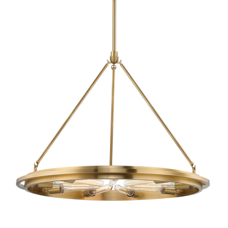 Hudson Valley Lighting 2732-AGB Chambers 9 Light Pendant in Aged Brass