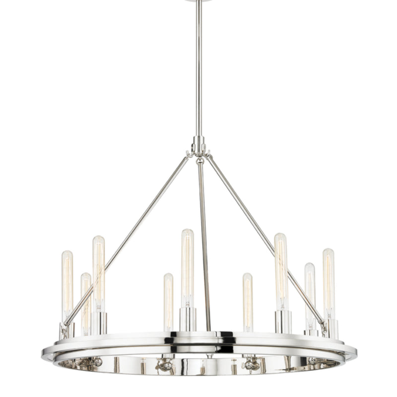 Hudson Valley Lighting 2732-PN Chambers 9 Light Pendant in Polished Nickel