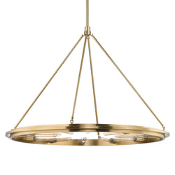Hudson Valley Lighting 2745-AGB Chambers 12 Light Pendant in Aged Brass