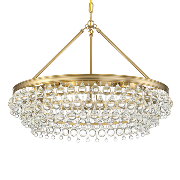 Crystorama 275-VG Calypso Chandelier in Vibrant Gold
