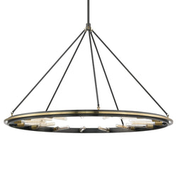 Hudson Valley Lighting 2758-AOB Chambers 15 Light Pendant in Aged Old Bronze