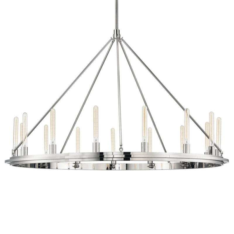 Hudson Valley Lighting 2758-PN Chambers 15 Light Pendant in Polished Nickel