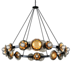 Corbett Lighting 278-024 Magic Garden 24lt Chandelier in Hand-Crafted Iron