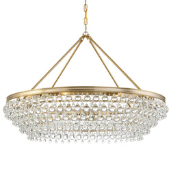 Crystorama 278-VG Calypso Chandelier in Vibrant Gold