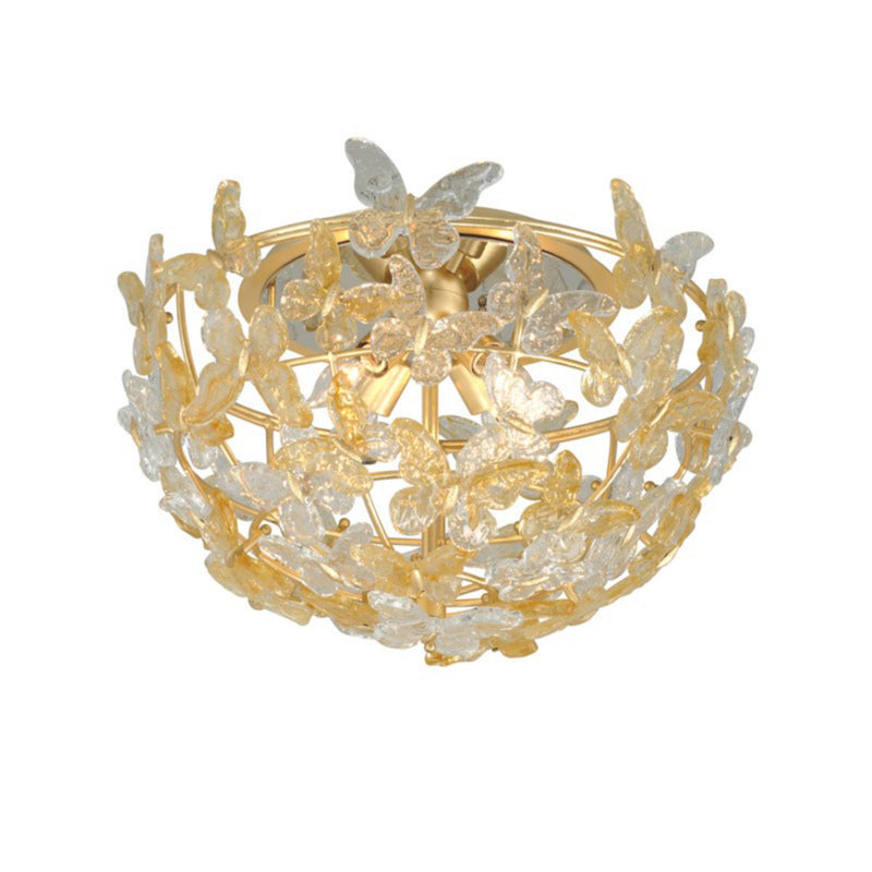 Corbett Lighting 279-34 Milan 4lt Flush Mount in Hand-Crafted Iron