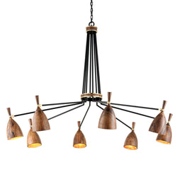Corbett Lighting 280-08 Utopia 8lt Chandelier in Hand Crafted Iron And Acacia