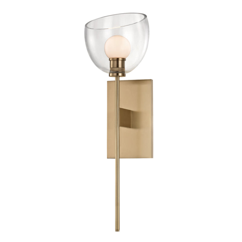 Hudson Valley Lighting 2800-AGB Davis 1 Light Wall Sconce in Aged Brass