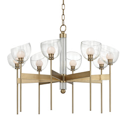 Hudson Valley Lighting 2808-AGB Davis 8 Light Chandelier in Aged Brass