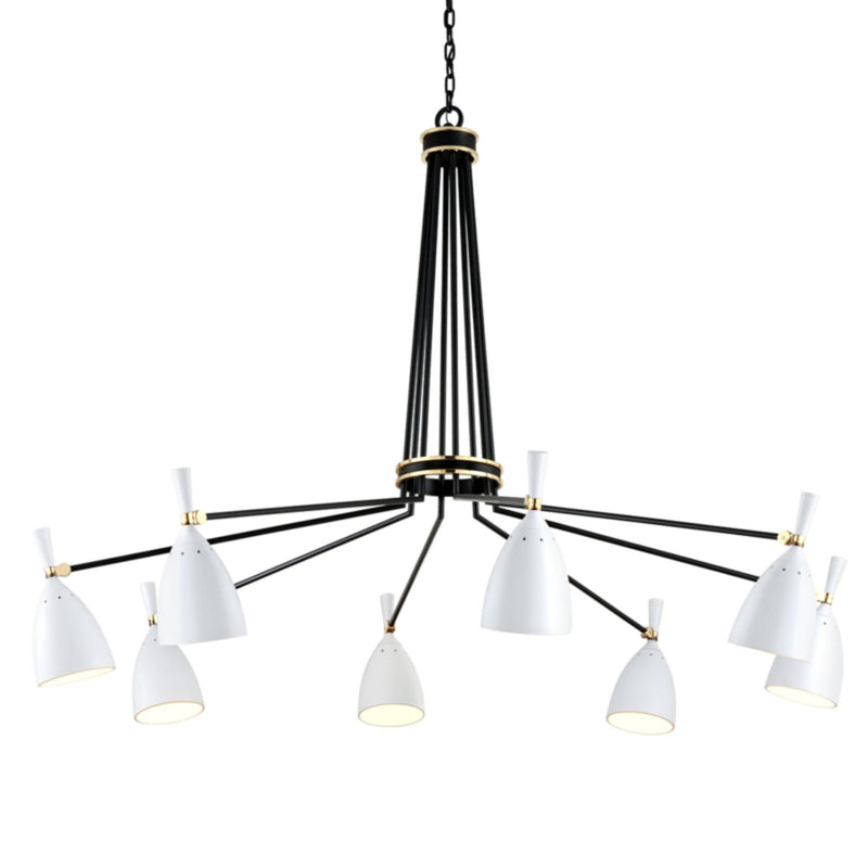 Corbett Lighting 281-08 Utopia 8lt Chandelier in Hand-Crafted Iron And Aluminum