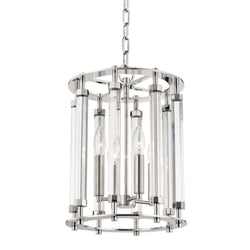 Hudson Valley Lighting 2812-PN Haddon 4 Light Pendant in Polished Nickel