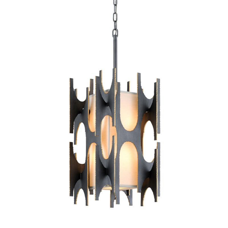 Corbett Lighting 282-44 Confidant 4lt Pendant in Hand-Crafted Aluminum