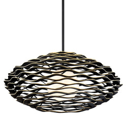Corbett Lighting 283-43 Luma 1lt Pendant in Hand-Crafted Aluminum