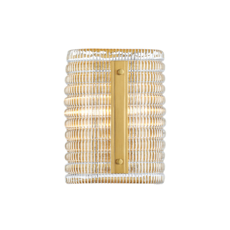 Hudson Valley Lighting 2852-AGB Athens 2 Light Wall Sconce in Aged Brass