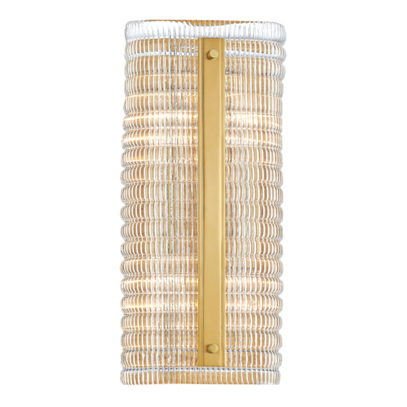 Hudson Valley Lighting 2854-AGB Athens 2 Light Wall Sconce in Aged Brass