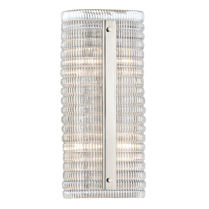 Hudson Valley Lighting 2854-PN Athens 2 Light Wall Sconce in Polished Nickel