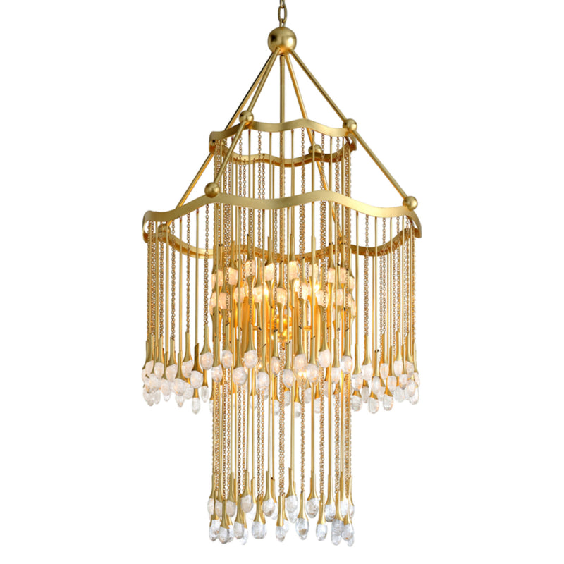 Corbett Lighting 286-012 Kiara 12lt Chandelier in Hand-Crafted Iron