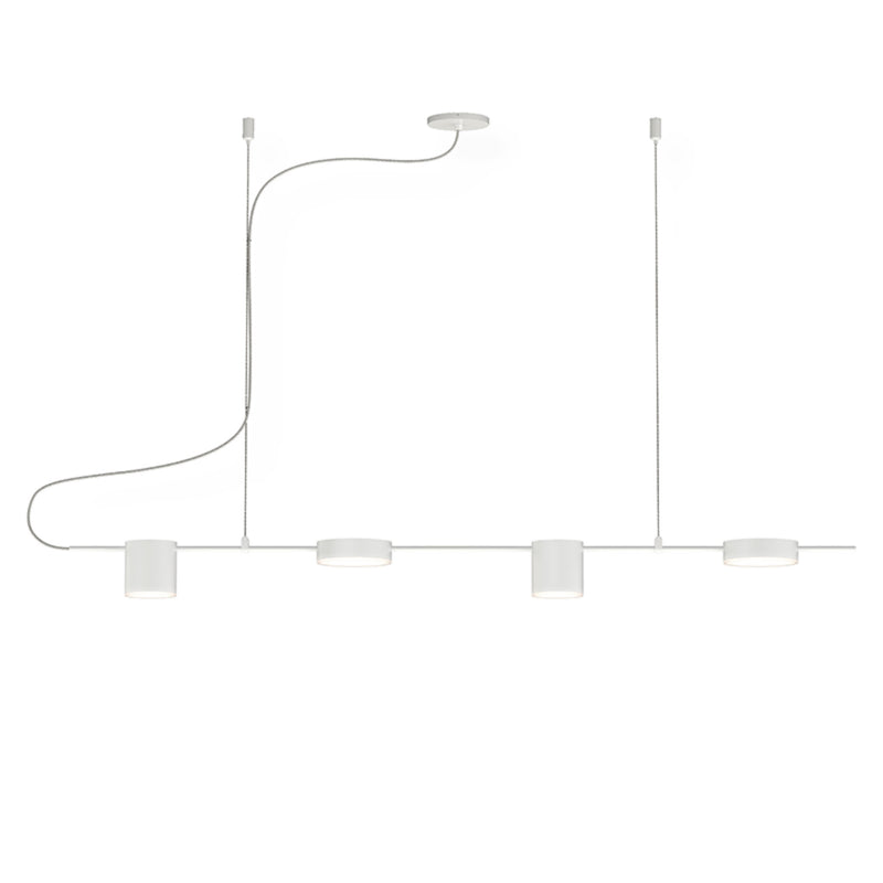 Sonneman 2884.03 Counterpoint 4-Light LED Linear Pendant in Satin White