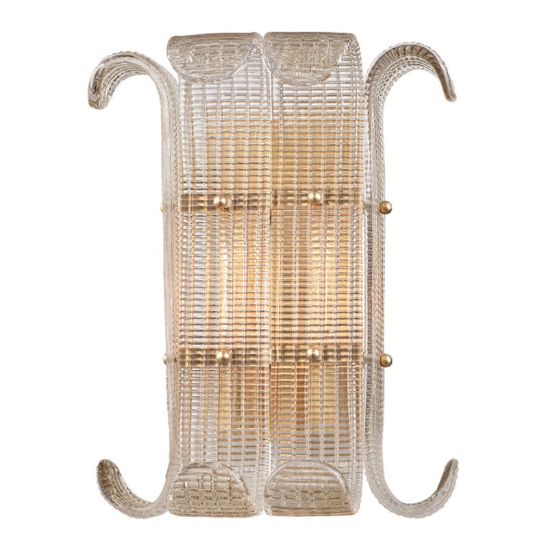 Hudson Valley Lighting 2902-AGB Brasher 2 Light Wall Sconce in Aged Brass