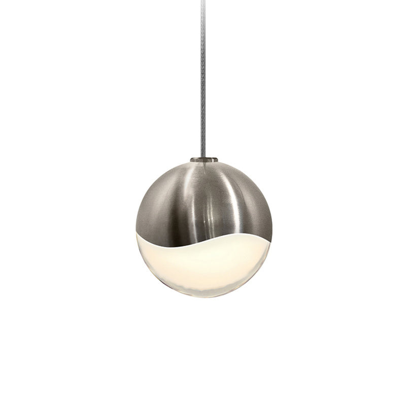 Sonneman 2912.13-SML Grapes Small LED Pendant w/Dome Canopy in Satin Nickel