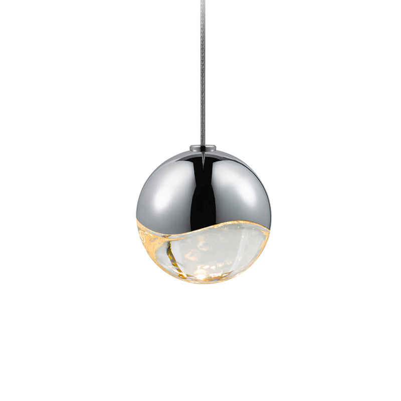 Sonneman 2913.01-SML Grapes Small LED Pendant w/Round Canopy in Polished Chrome