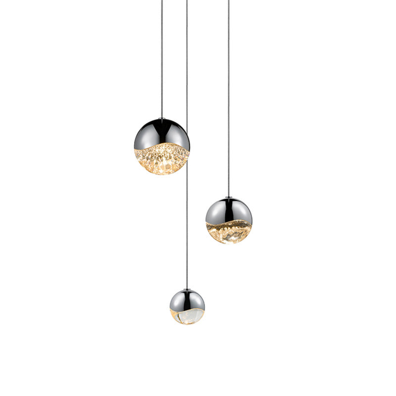Sonneman 2914.01-AST Grapes 3-Light Round Assorted LED Pendant in Polished Chrome