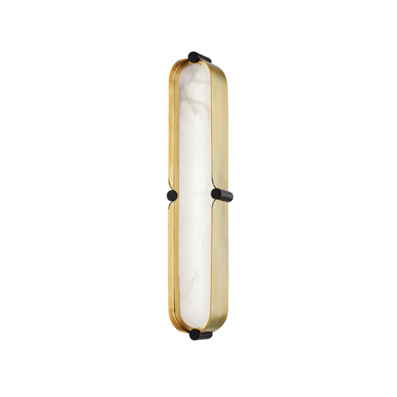 Hudson Valley Lighting 2916-AGB/BK Tribeca Small Led Bath Bracket in Aged Brass/Black