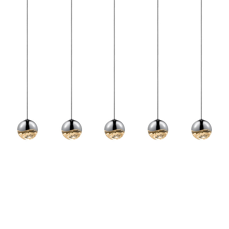 Sonneman 2921.01-SML Grapes 5-Light Rectangle Small LED Pendant in Polished Chrome