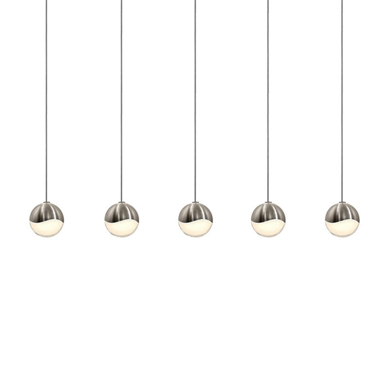 Sonneman 2921.13-SML Grapes 5-Light Rectangle Small LED Pendant in Satin Nickel
