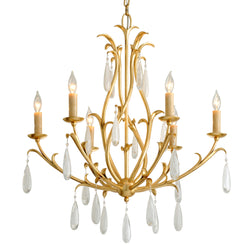 Corbett Lighting 293-06 Prosecco 6lt Chandelier in Hand-Crafted Iron