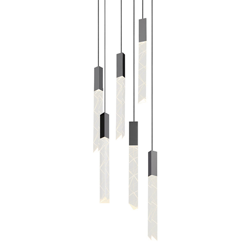 Sonneman 2953.01 Trinity 6-Light Round LED Pendant in Polished Chrome