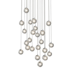 Sonneman 2966.01 Champagne Bubbles 24-Light Round LED Pendant in Polished Chrome