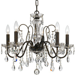 Crystorama 3025-EB-CL-SAQ Butler Chandelier in English Bronze