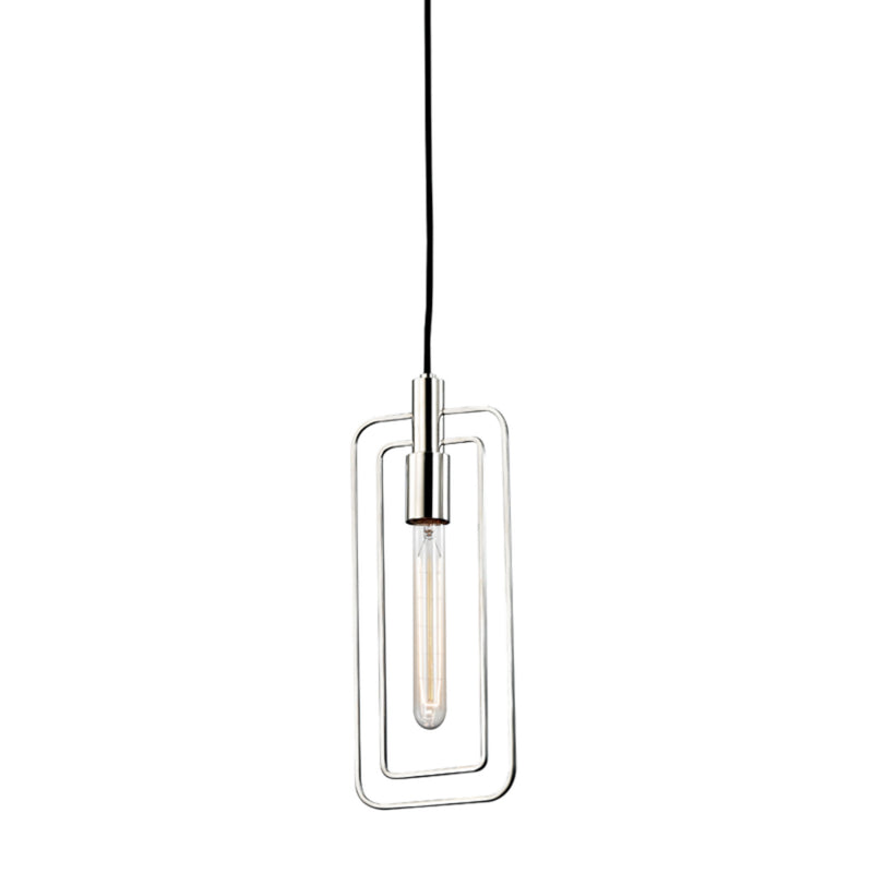 Hudson Valley Lighting 3030-PN Masonville 1 Light Pendant in Polished Nickel
