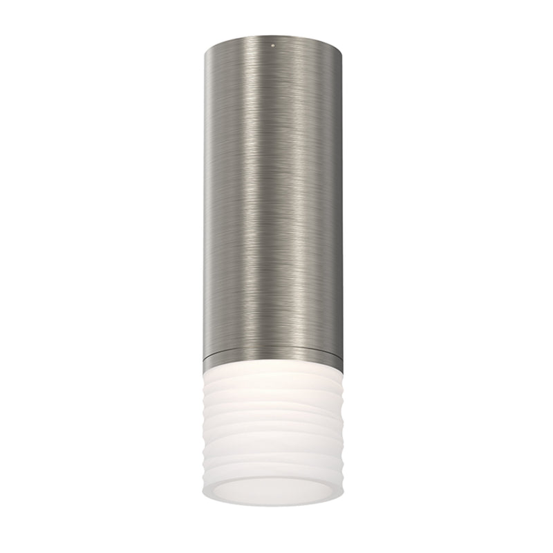 "Sonneman 3066.13-FN25 ALC 3"" Small LED Conduit Mount w/Etched Ribbon Glass Trim and 25i Narrow Flood Lens in Satin Nickel"