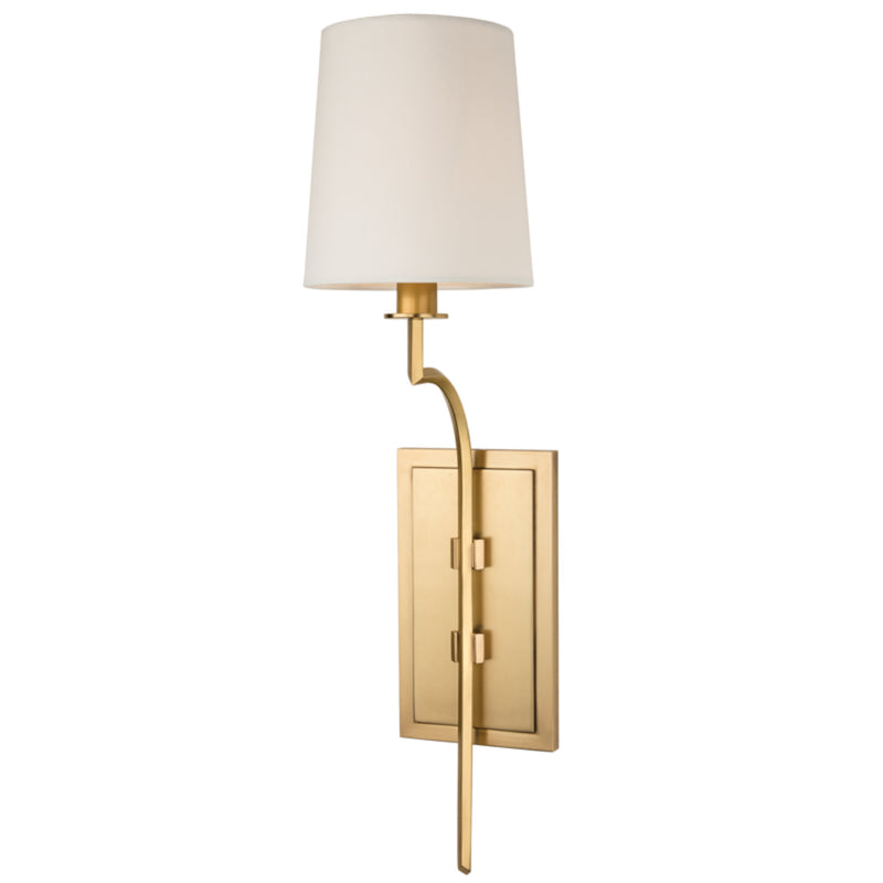 Hudson Valley Lighting 3111-AGB Glenford 1 Light Wall Sconce in Aged Brass
