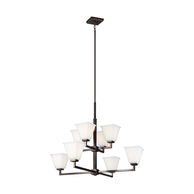 Generation Lighting 3113708-778 Sea Gull Ellis Harper 8 Light Chandelier in Brushed Oil Rubbed Bronze