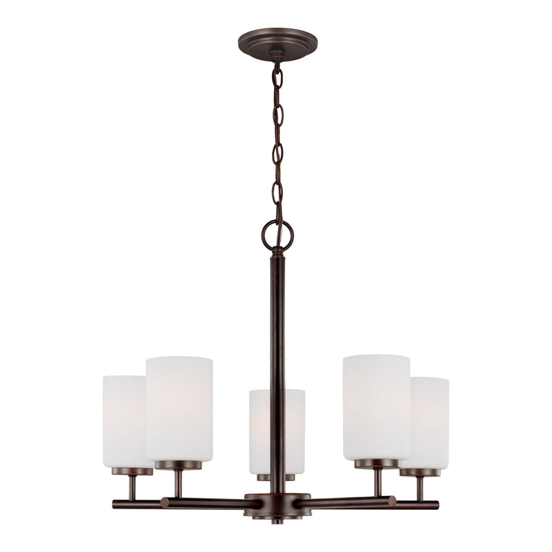 Generation Lighting 31161-710 Sea Gull Oslo 5 Light Chandelier in Burnt Sienna