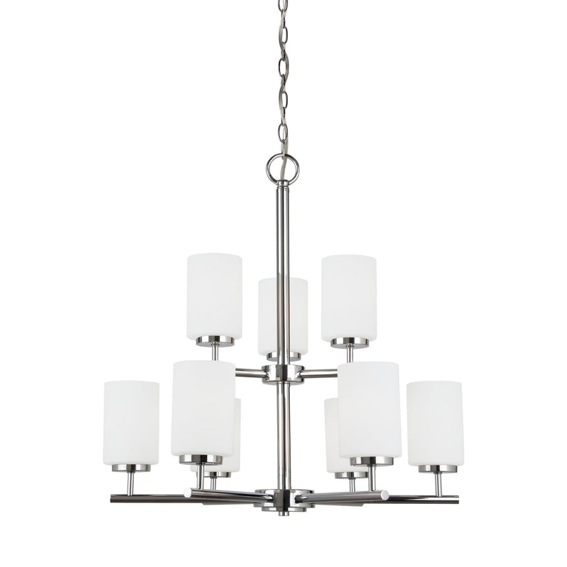 Generation Lighting 31162-05 Sea Gull Oslo 9 Light Chandelier in Chrome