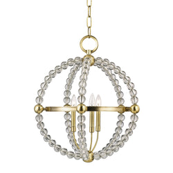 Hudson Valley Lighting 3120-AGB Danville 3 Light Pendant in Aged Brass